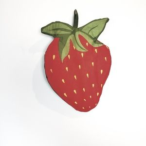 Vintage Strawberry Oven Mitt Retro 80s 90s Boho